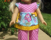 American Girl Doll Outfit 2-Piece Pants Tunic Pink Blue Yellow Cute Trendy