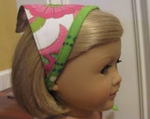 American Girl Doll Headscarf Accessory - Pink and Lime Green