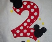 Custom Size Disney Mickey Mouse Vacation Birthday shirt