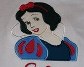 Custom Snow White SS Shirt Sizes 2T to 12 Personalized