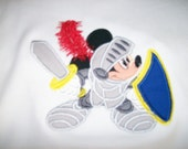 Custom Tee Shirt with Mickey Mouse as a Knight