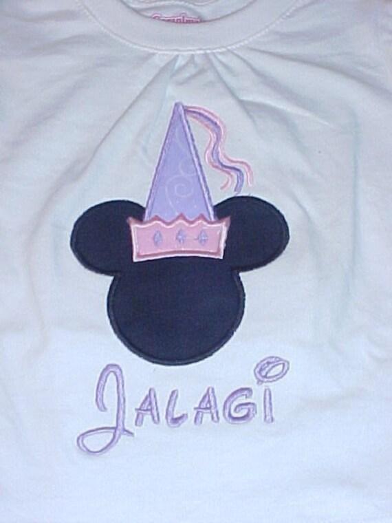 Custom Disney Princess Minnie Silhouette Shirt Size 12M to 10\/12