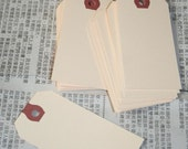blank shipping TAGS KRAFT manilla tags 25 qty