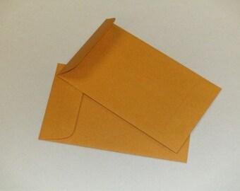 Coin 3 Envelopes 2.5 x 4.25 kraft brown, 25qty