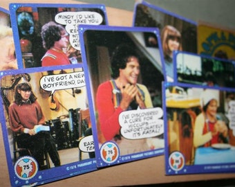 Topp Mork and Mindy Trading Cards lot of 8
