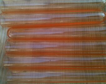 Orange Plastic Test Tubes set of 10