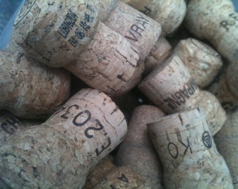 Champagne Corks Natural used 50 qty