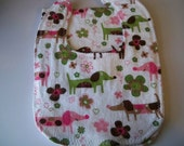 Flowers and dogs bib and burpcloth set (Save The Puppy Fund)