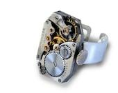 Industrial Beauty Waltham Steampunk Ring