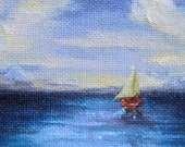 Ocean Breeze Art Card/ACEO original oil painting