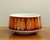 Home Decor Bowl, Franciscan Serving Bowl, Discovery Terra Cotta Pattern 1960s