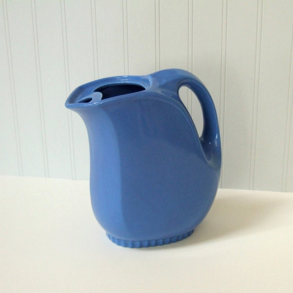 Vintage Refrigerator Pitcher Hall China Co Blue Ceramic