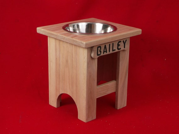 Elevated Large Dog Feeder Single Bowl 15 Inchs High Solid