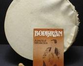 Vintage Bodhran Drum, Booklet, & Tipper