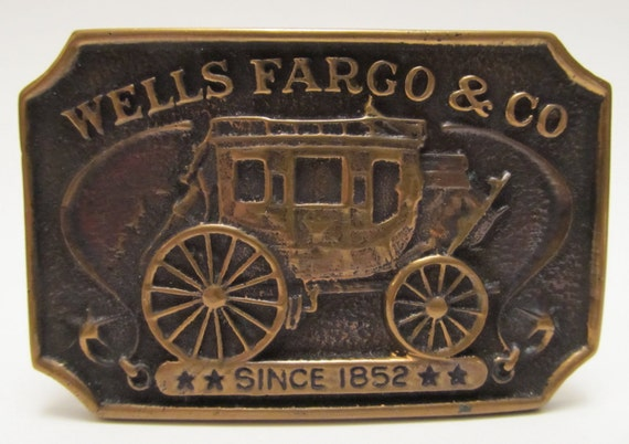 Wells Fargo & Co. Brass Belt Buckle