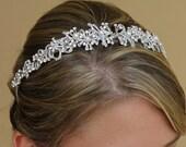 Bridal Headband, Crystal and Pearl Bridal Headband,  Wedding Hair Accessory, Tiara, Bridal Accessories LEAH