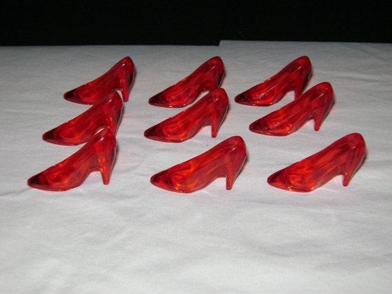 high heel shoe plastic charm by festivalbuy on etsy