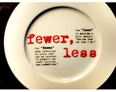 Fewer, Less Grammar Plate
