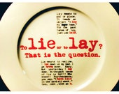 To Lie or To Lay Grammar Plate