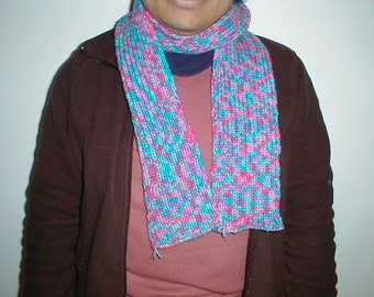 Bonbon Print multicolored knitted scarf