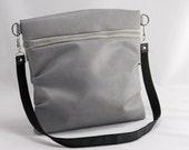 Super Sale - Stella clutch / purse / shoulder bag in grey with removable strap