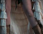 Brown Handmade Real Leather Garter Belt - steampunk - burning man - festivals - bellydance