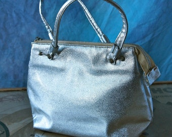 Mod Squad Handbag Miss Lewis 60's Silver Go Go Evening Purse