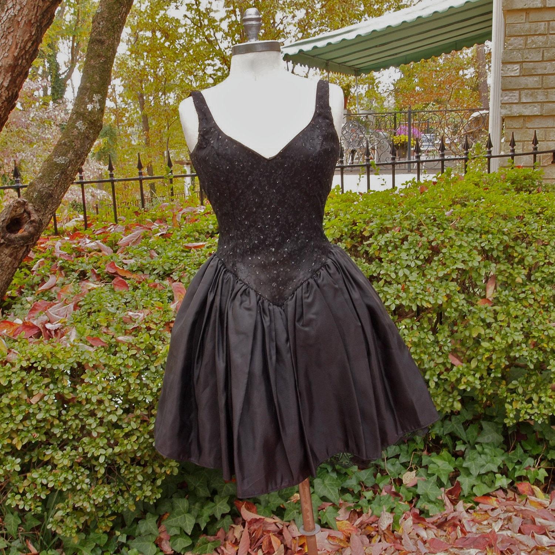 Black Vintage Prom Dress Steampunk Gunne Sax 80 S Lace And