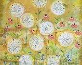 Hazy meadow Art print 8 x 10