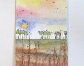 "ACEO ""Abercastle grasses 1"" Original painting"