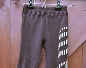 Upcycled Baby Pants-Chocolate Brown size 6m