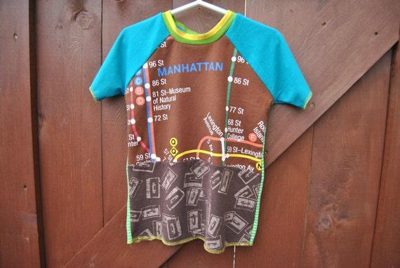 Upcycled Raglan T-shirt size 4/5