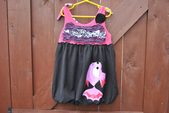 Tank Tunic with Bubble Skirt Upcycled Size 6