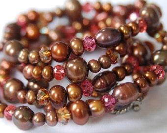Chocolate Flowers Necklace / Bracelet