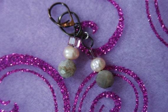 Ocean Jasper and Freshwater Pearl Earrings