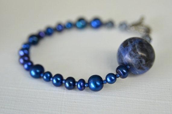 Sodalite Bracelet Blue Bracelet Sapphire Royal Navy Blueberry