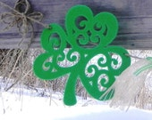 St. Patricks Day Garland for the Home--- Vintage Shamrocks