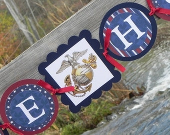 Welcome Home Military Banner--Stars and Stripes--Hand made in the USA for our Troops--Portion of proceeds benifit soldier memorial fund
