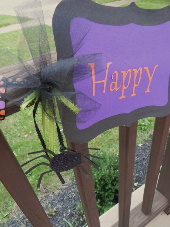 Happy Halloween Birthday Banner---Customization of Colors Available