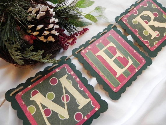 Merry Christmas---A Decorative Christmas Banner for the Holiday Home