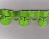 RESERVED LISTING for PAM       Wrights Green Apple Pom Pom Trim  6 yards