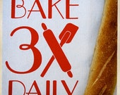 Bake 3x Daily Recycled Cotton Messenger