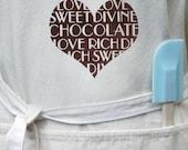 I Heart Chocolate Organic Cotton Apron