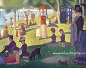 Doctor Who Greeting Card Set of Five TARDIS Georges Seurat A Sunday Afternoon on the Island of La Grande Jatte Parody