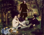 Vampire DRACULA Manet Luncheon on the Grass Nosferatu