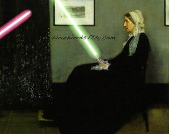 Star Wars JEDI KNIGHT Print Whistler's Mother James McNeill Whistler Parody