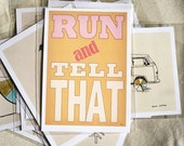 5x7 Run and Tell That Print