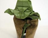 FIGURINE 80mm origami yoda sculpture