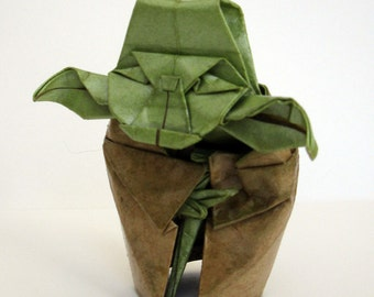 FIGURINE 80mm origami yoda sculpture