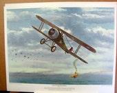 WWI Rickenbacker Nieuport 28 Downs Pfalz Pursuit 1st Aerial Combat Victory